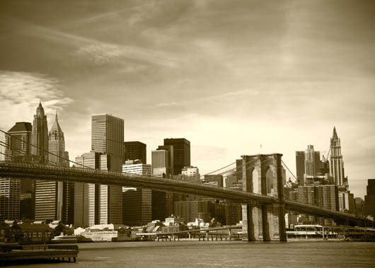 Bilde av Brooklyn Bridge Old Av Anline Ruby