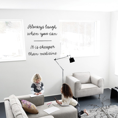 Bilde av Always Laugh Wallsticker Av Alan Smithee, 50x50 Cm