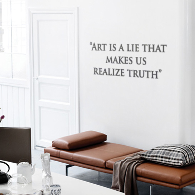 Bilde av Art Is A Lie Wallsticker Av Alan Smithee, 80x28 Cm