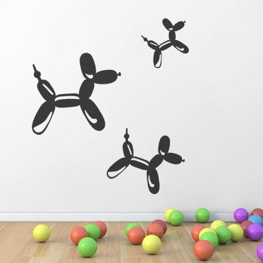 Bilde av Balloon Dogs Wallsticker Av Ane Marie Blæsbjerg, 70x56 Cm