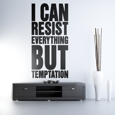 Bilde av But Temptation Wallsticker Av Alan Smithee, 45x92 Cm