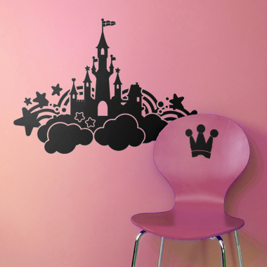 Bilde av Castle In The Sky Wallsticker Av Alan Smithee, 56x38 Cm
