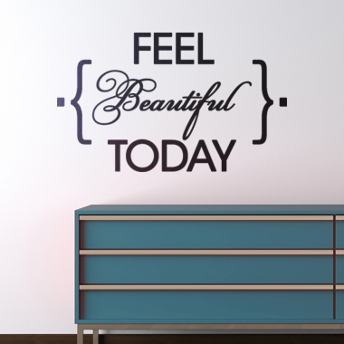 Bilde av Feel Beautiful Today Wallsticker Av Alan Smithee, 45x27 Cm