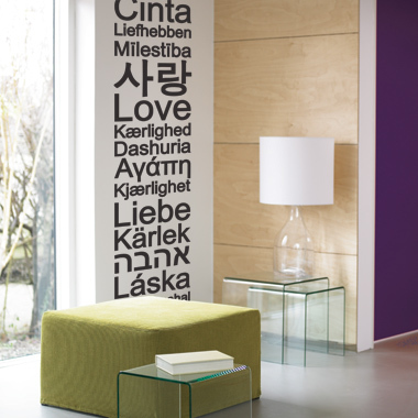Bilde av Global Love Wallsticker Av Alan Smithee, 31x161 Cm