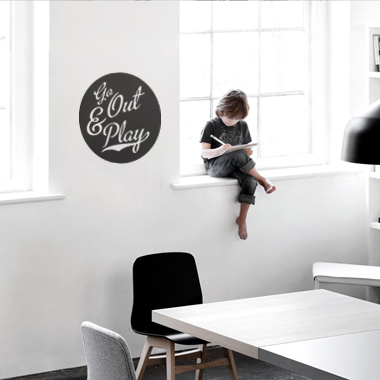 Bilde av Go Out & Play Wallsticker Av Alan Smithee, 38x38 Cm