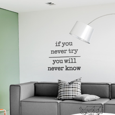 Bilde av If You Never Try Wallsticker Av Alan Smithee, 41x49 Cm